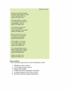 Interactive worksheet Canzone Santa Lucia