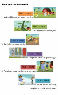 Interactive worksheet Jack and the beanstalk