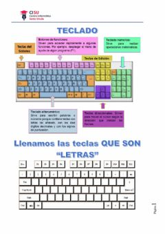 Interactive worksheet Teclado
