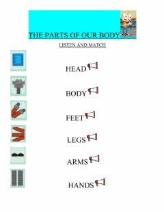 Interactive worksheet Robot's parts of the body