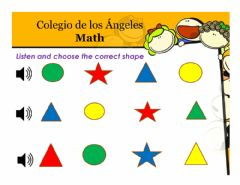 Interactive worksheet Shapes and colors