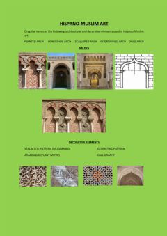 Interactive worksheet Hispano-Muslim art