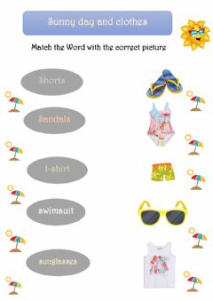 Interactive worksheet Clothes and weather
