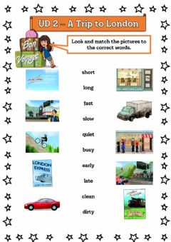 Interactive worksheet A Trip to London - 5º UD 2 Ficha 1