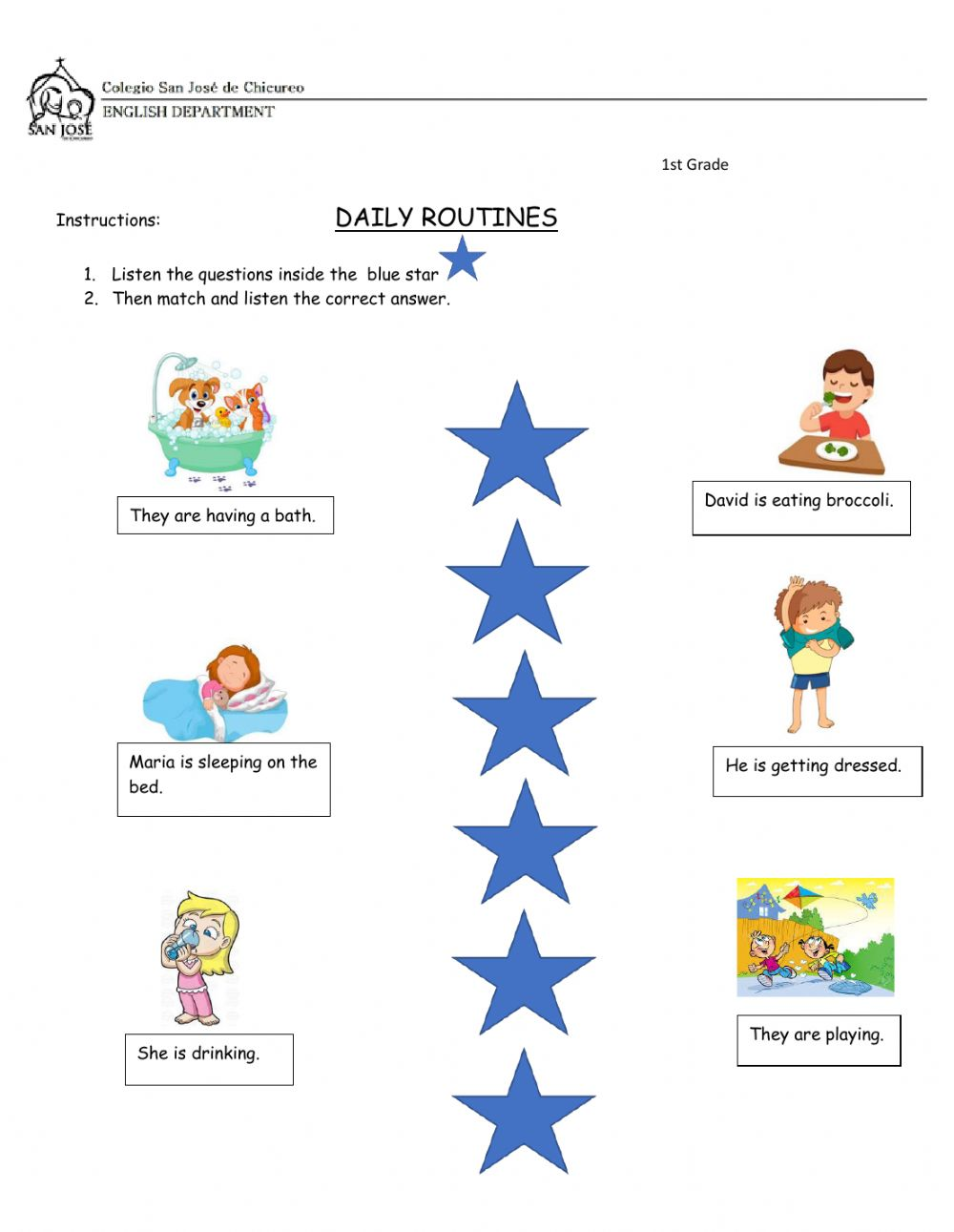 Daily Routines Questions And Answers Worksheet
