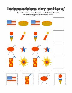 Interactive worksheet 4th of July  patterns