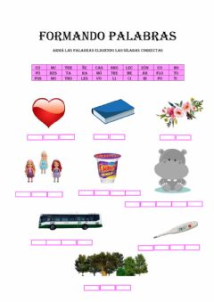 Interactive worksheet Formando palabras