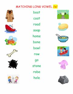 Ficha interactiva Long Vowel Sound o