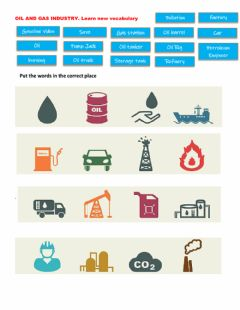 Interactive worksheet Oil and gas vocabulary