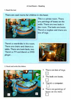 Ficha interactiva A Cool Room - Reading Comprehension