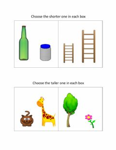 Interactive worksheet Comparing Heights