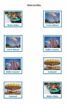 Ficha interactiva Amusement Park Matching 1