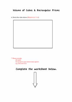 Interactive worksheet Finding the Volume of Cubes and Rectangular Prisms