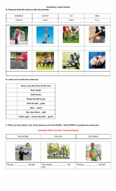 Interactive worksheet Vocabulary: Sport Actions
