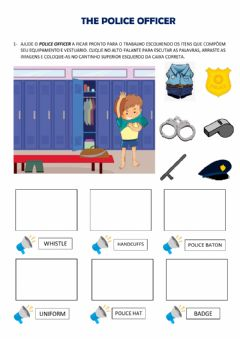 Interactive worksheet Community helpers: the police officer