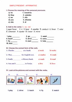 Interactive worksheet Simple present-affirmative