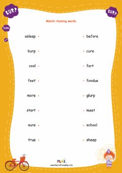 Ficha interactiva Barnaby Glurp - Rhyming Words