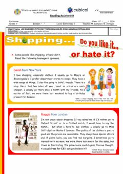 Interactive worksheet Reading Practice