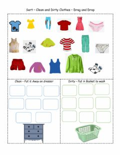 Interactive worksheet Sorting Dirty and Clean Clothes