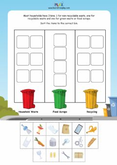Interactive worksheet The Garbage Trucks - Recycling