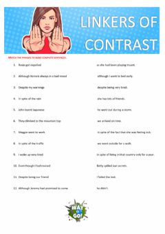 Interactive worksheet Linkers of Contrast