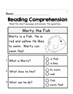 Interactive worksheet Mart the Fish