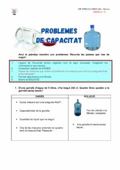 Interactive worksheet Problemes capacitat