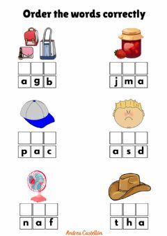 Interactive worksheet One syllable words with A