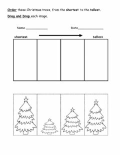 Interactive worksheet Tallest and Shortest