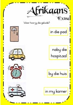 Interactive worksheet Week 21 - Afrikaans - Tuesday Extra