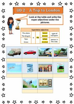 Interactive worksheet A Trip to London - 5º UD 2 Ficha 8