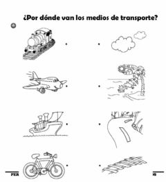 Interactive worksheet Los Medios de Transporte