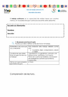 Interactive worksheet Comprensión lectura