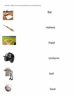 Interactive worksheet Baseball words