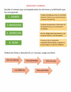 Interactive worksheet Derechos y deberes colombia