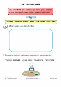 Interactive worksheet Uso de conectores
