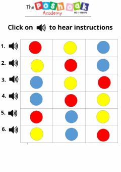 Interactive worksheet Red Circle