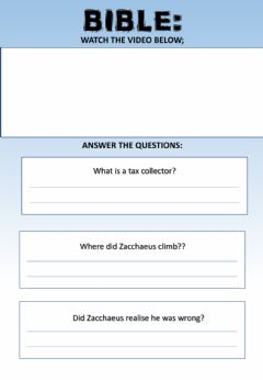 Interactive worksheet WEEK 21: WEDNESDAY: Zacchaeus