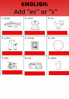 Interactive worksheet WEEK 21: WEDNESDAY: Plurals