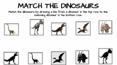 Interactive worksheet Match the dinosaurs