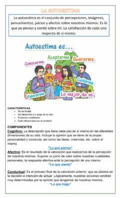 Interactive worksheet Autoestima