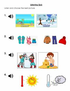 Interactive worksheet Listening Quiz