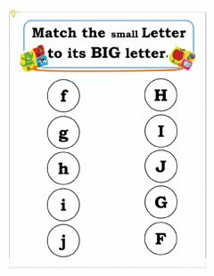Interactive worksheet Matching small to big letter