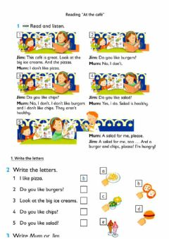 Interactive worksheet Reading - At the cafe (do you like)