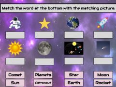 Interactive worksheet Space Match