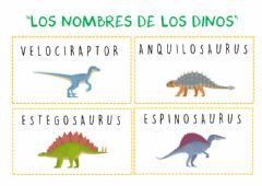 Interactive worksheet Nombre dinosaurios