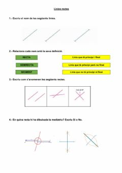 Interactive worksheet Les línies