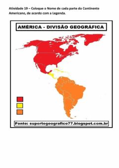 Interactive worksheet Divisão Geográfica do Continente Americano