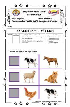 Interactive worksheet Evaluación 1.3 K2