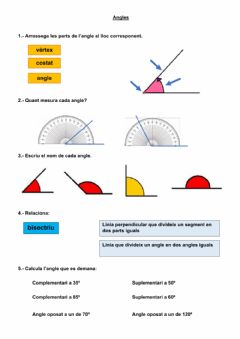 Interactive worksheet Angles